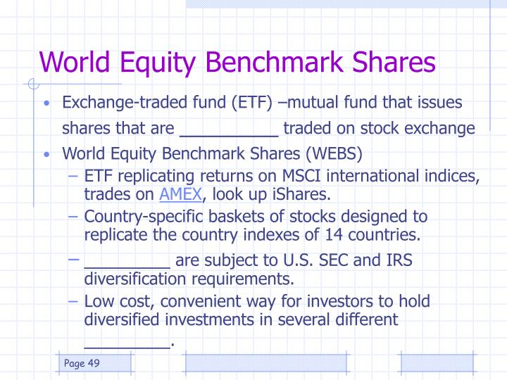 World Equity Benchmark Shares
