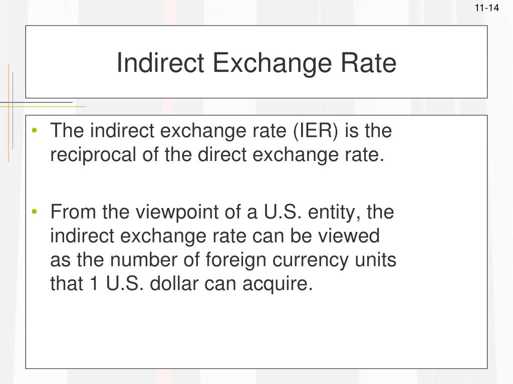 Indirect Exchange Rate