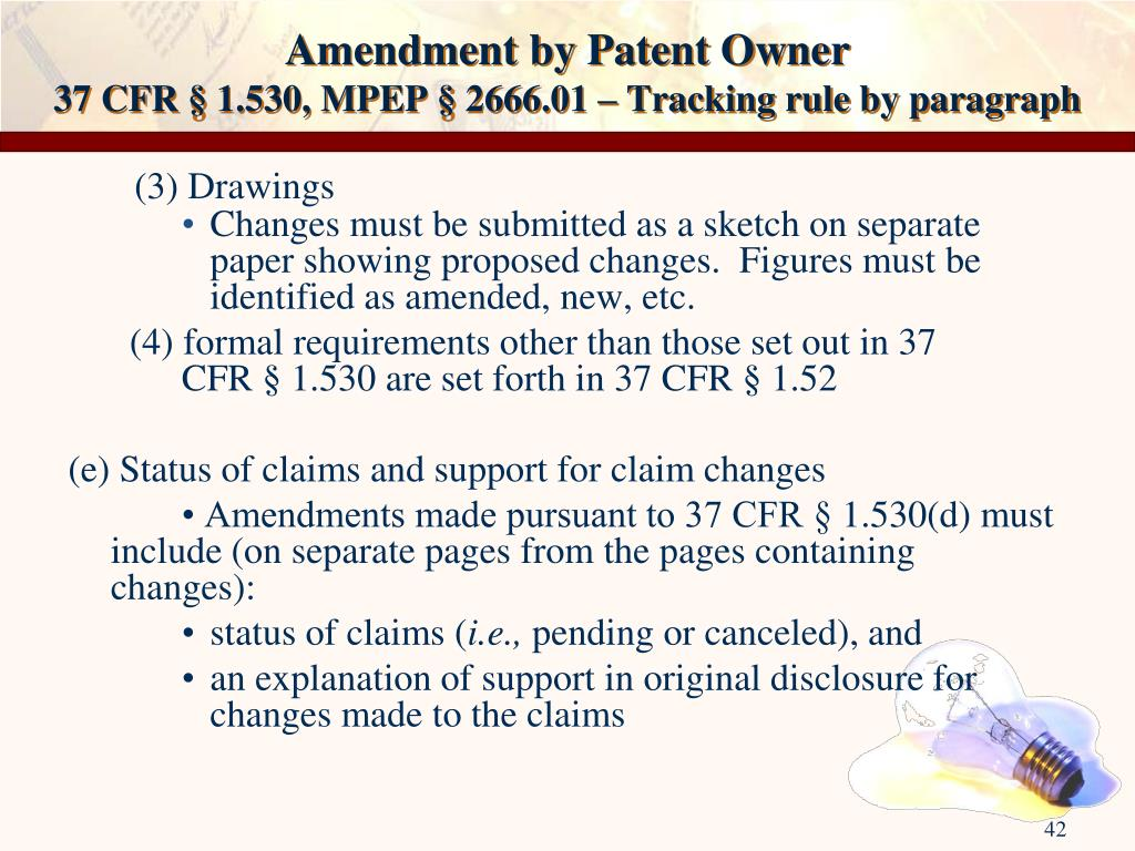 Amendment by Patent Owner