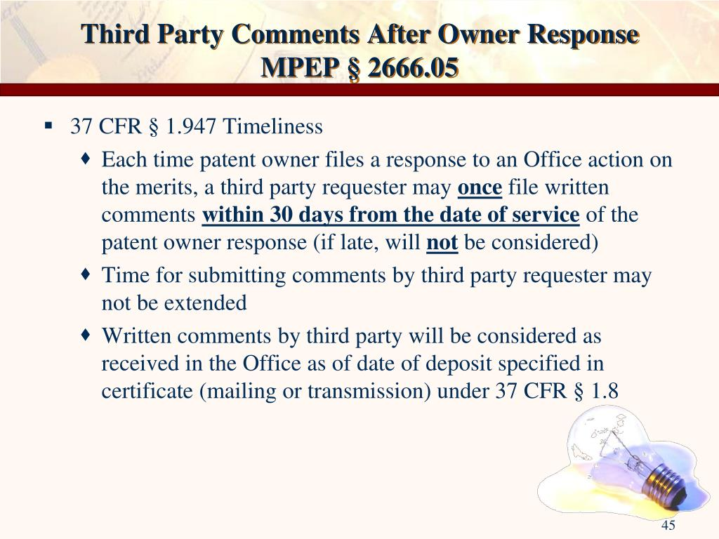 Third Party Comments After Owner Response