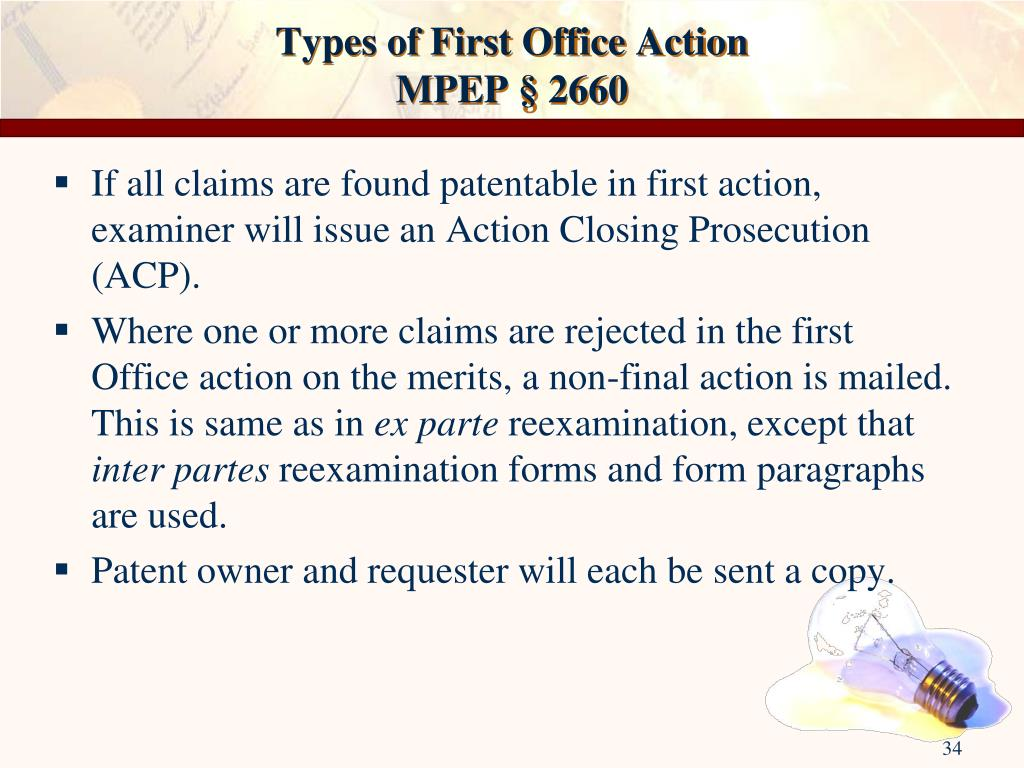 Types of First Office Action
