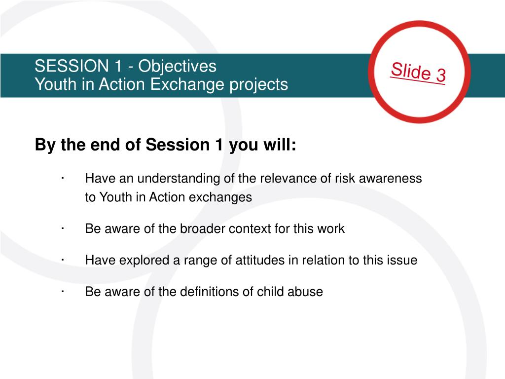 SESSION 1 - Objectives