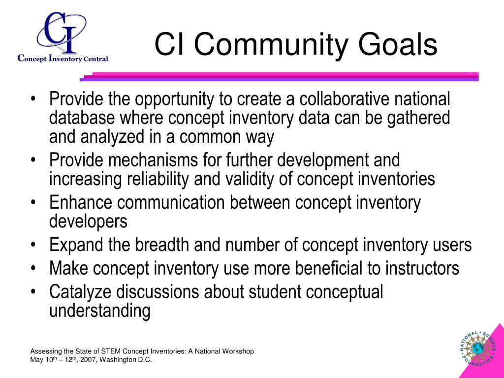 CI Community Goals