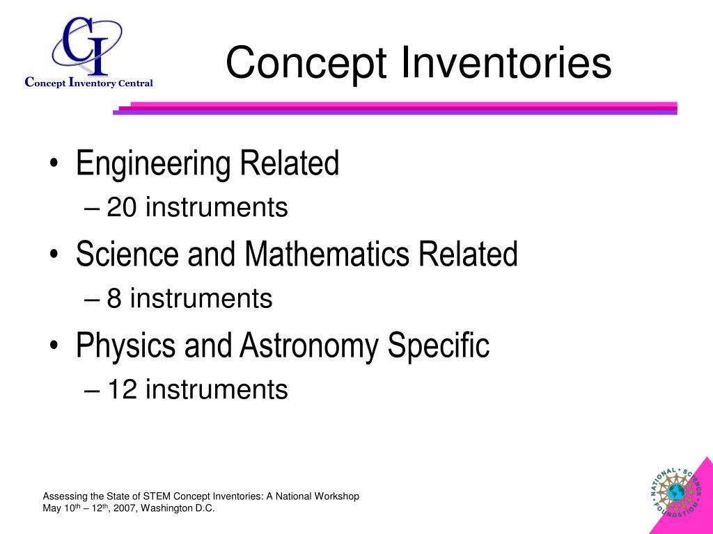 Concept Inventories