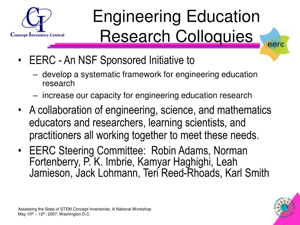 Engineering Education Research Colloquies
