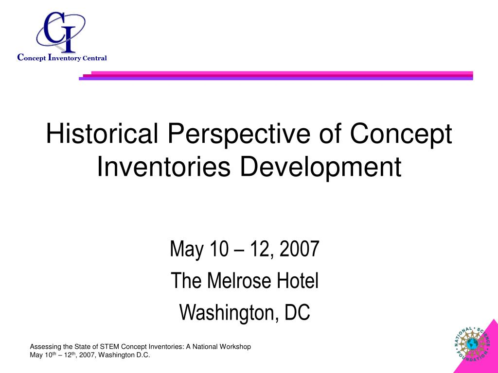 Historical Perspective of Concept Inventories Development