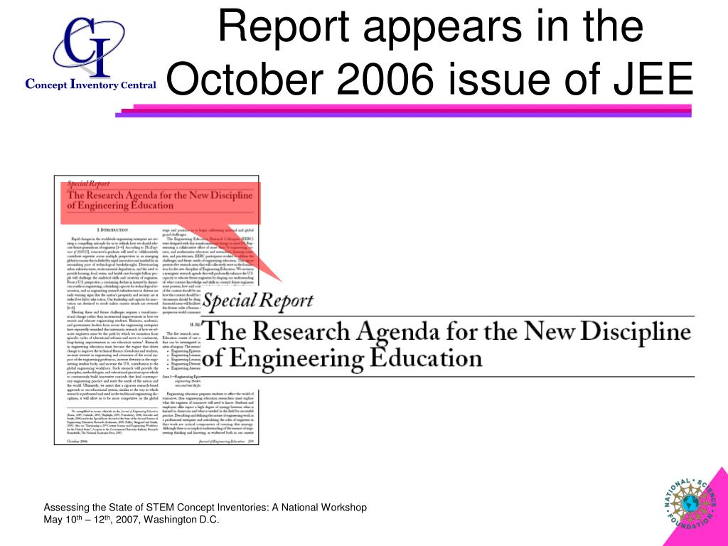 Report appears in the October 2006 issue of JEE