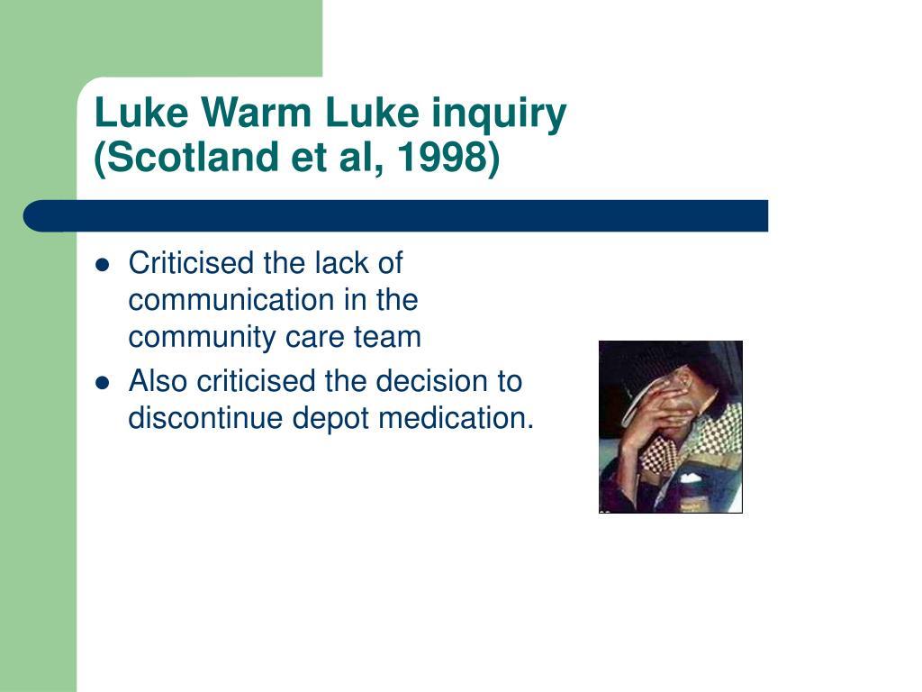 Luke Warm Luke inquiry