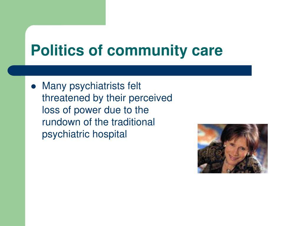 Politics of community care