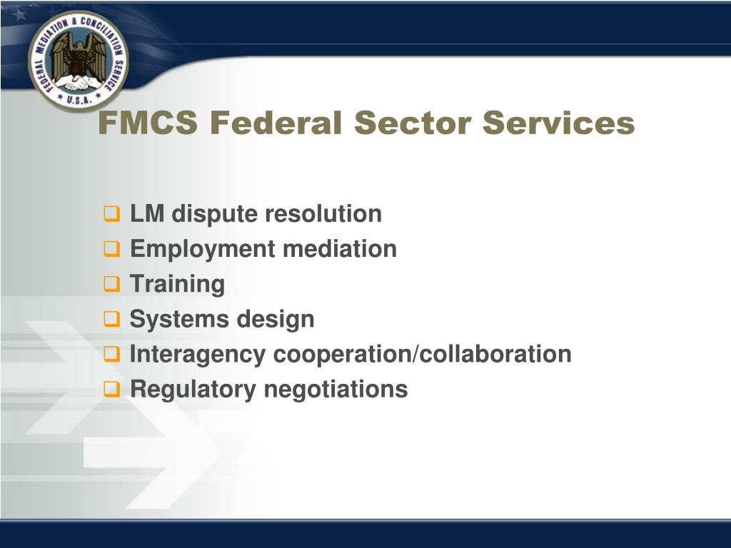 FMCS Federal Sector Services