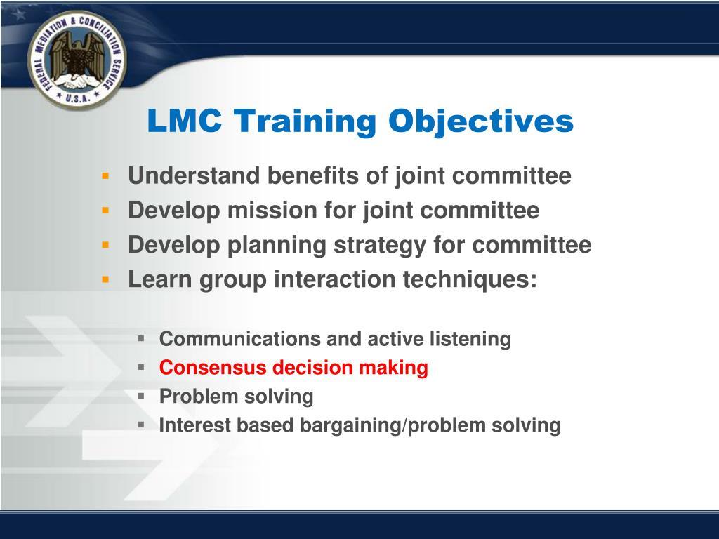 LMC Training Objectives