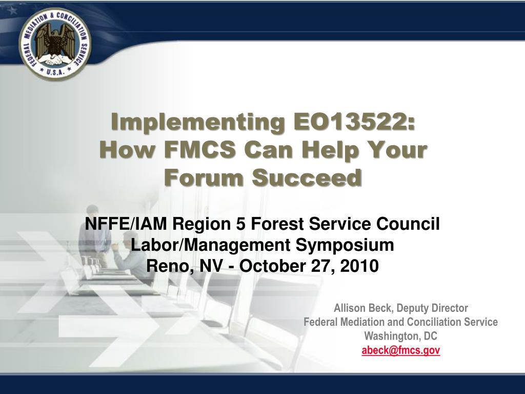 Implementing EO13522: