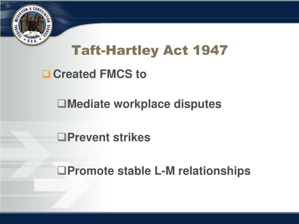 Taft-Hartley Act 1947