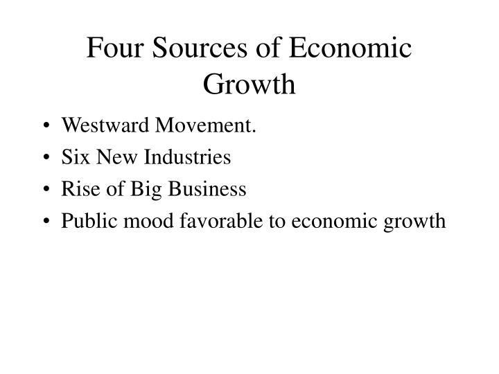 Four Sources of Economic Growth