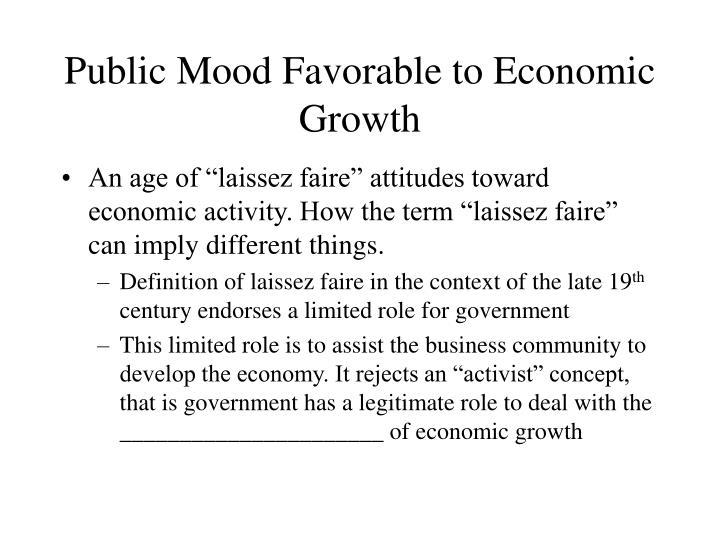 Public Mood Favorable to Economic Growth