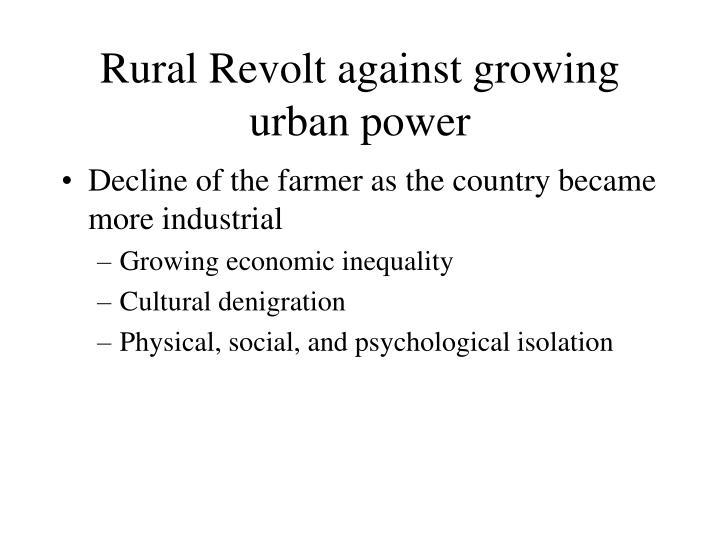 Rural Revolt against growing urban power