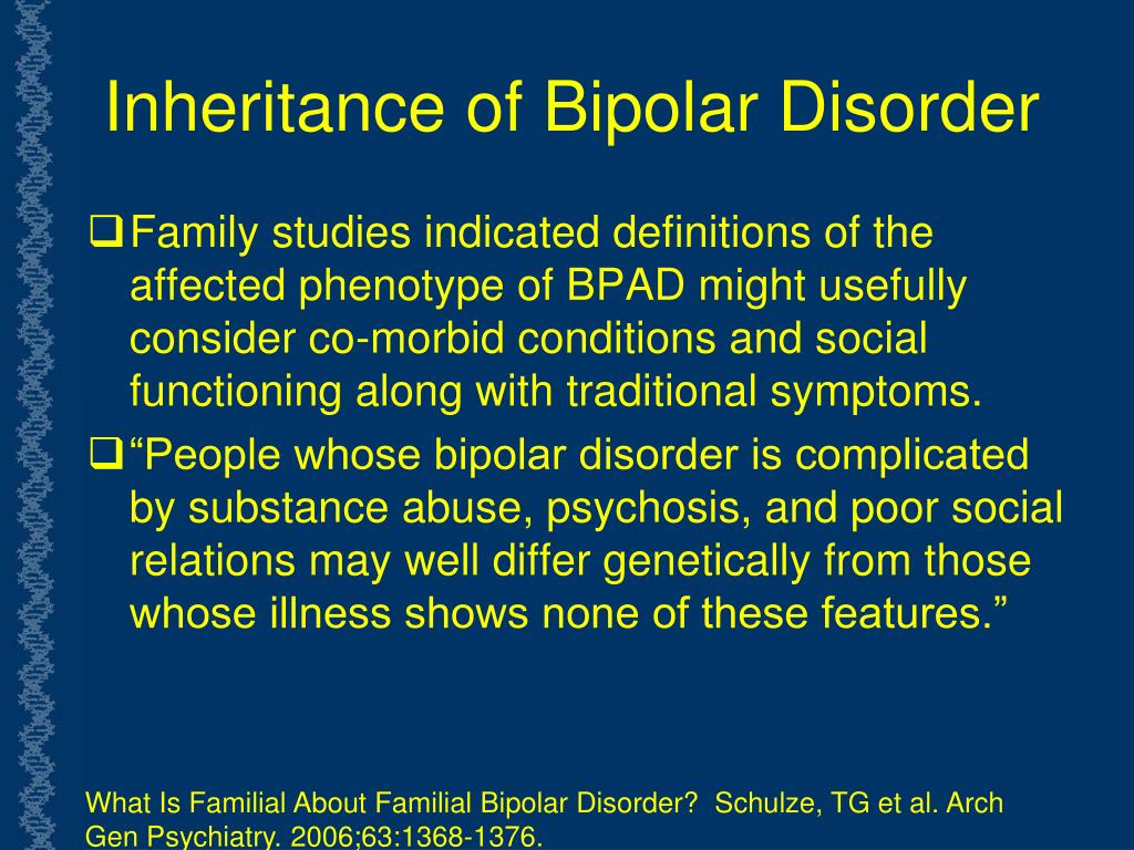 Inheritance of Bipolar Disorder