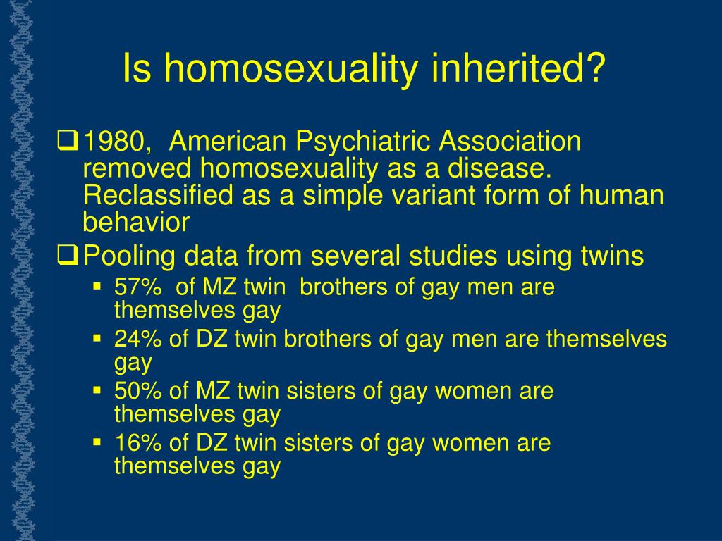 Is homosexuality inherited?