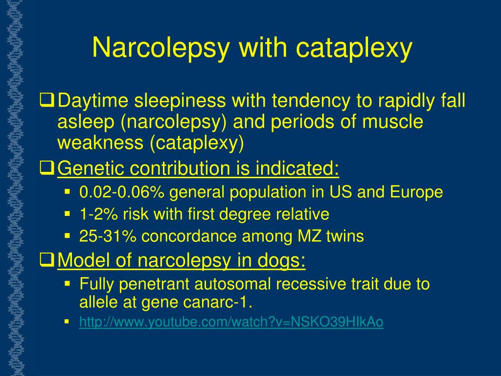 Narcolepsy with cataplexy
