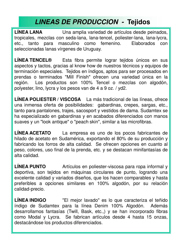LINEAS DE PRODUCCION