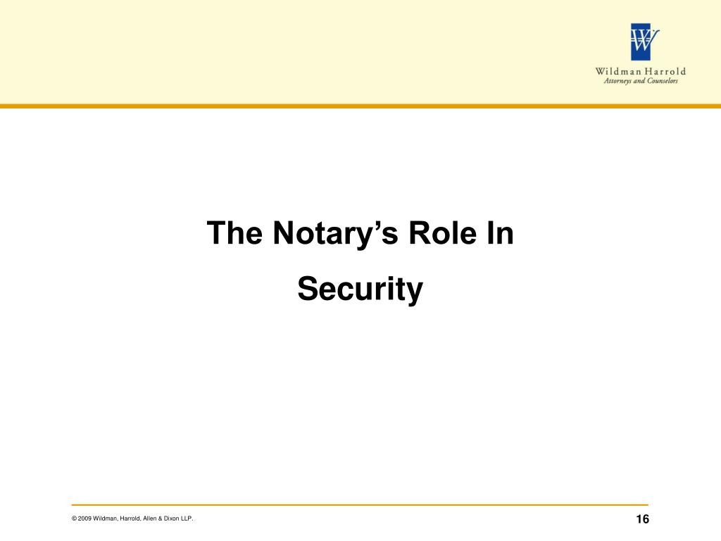 The Notary's Role In