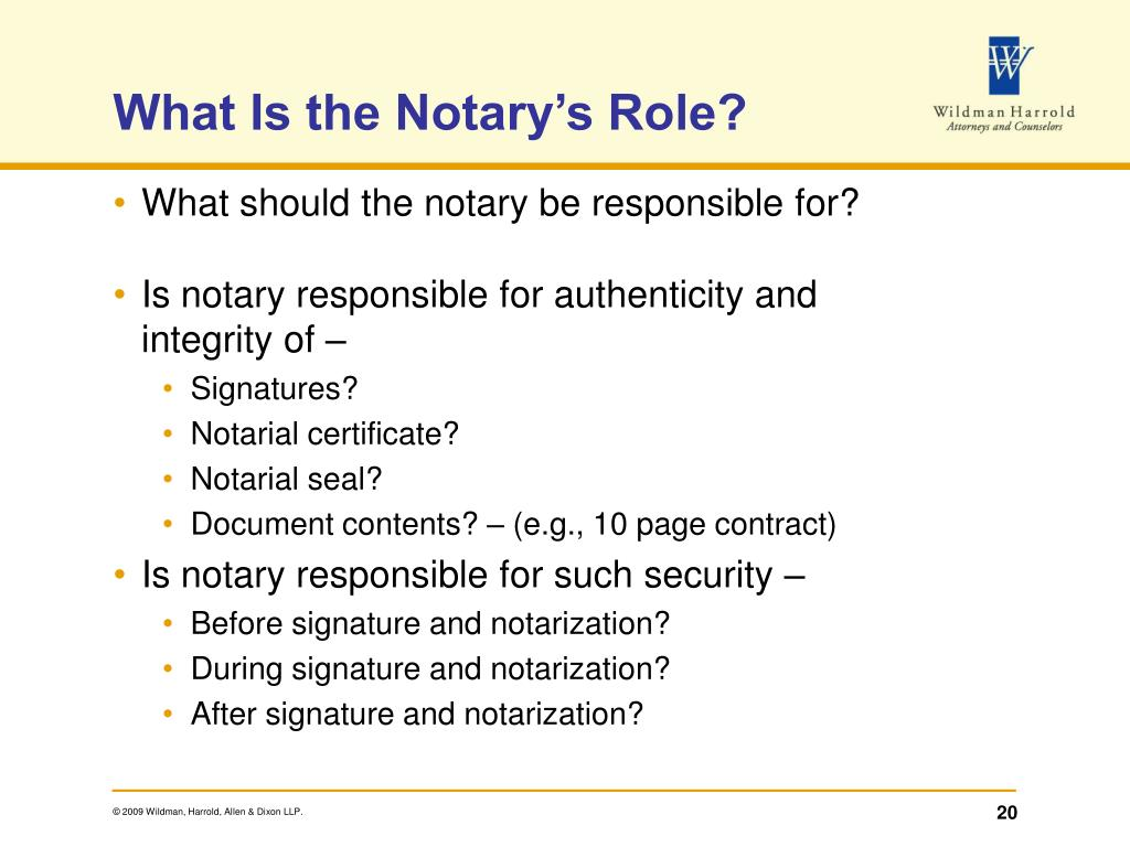 What Is the Notary's Role?