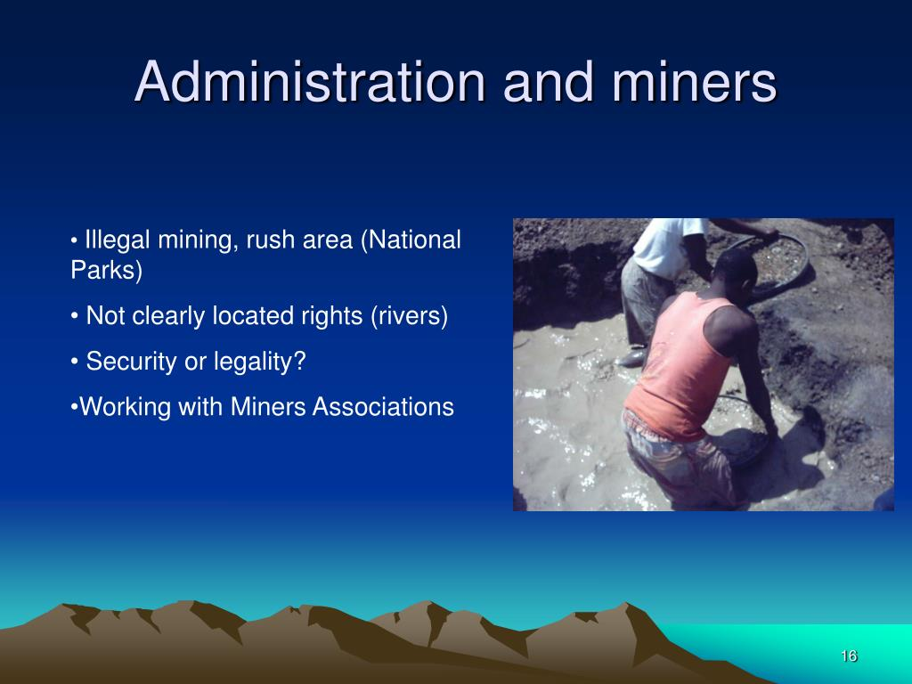 Administration and miners