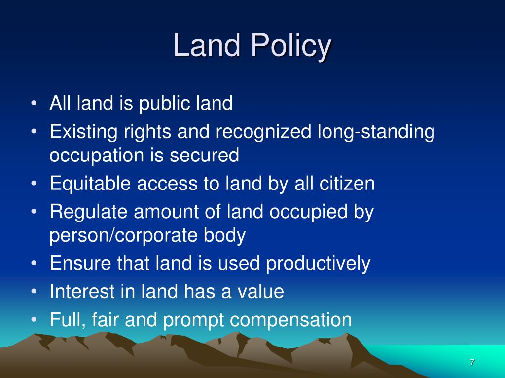 Land Policy