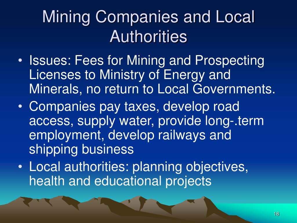 Mining Companies and Local Authorities