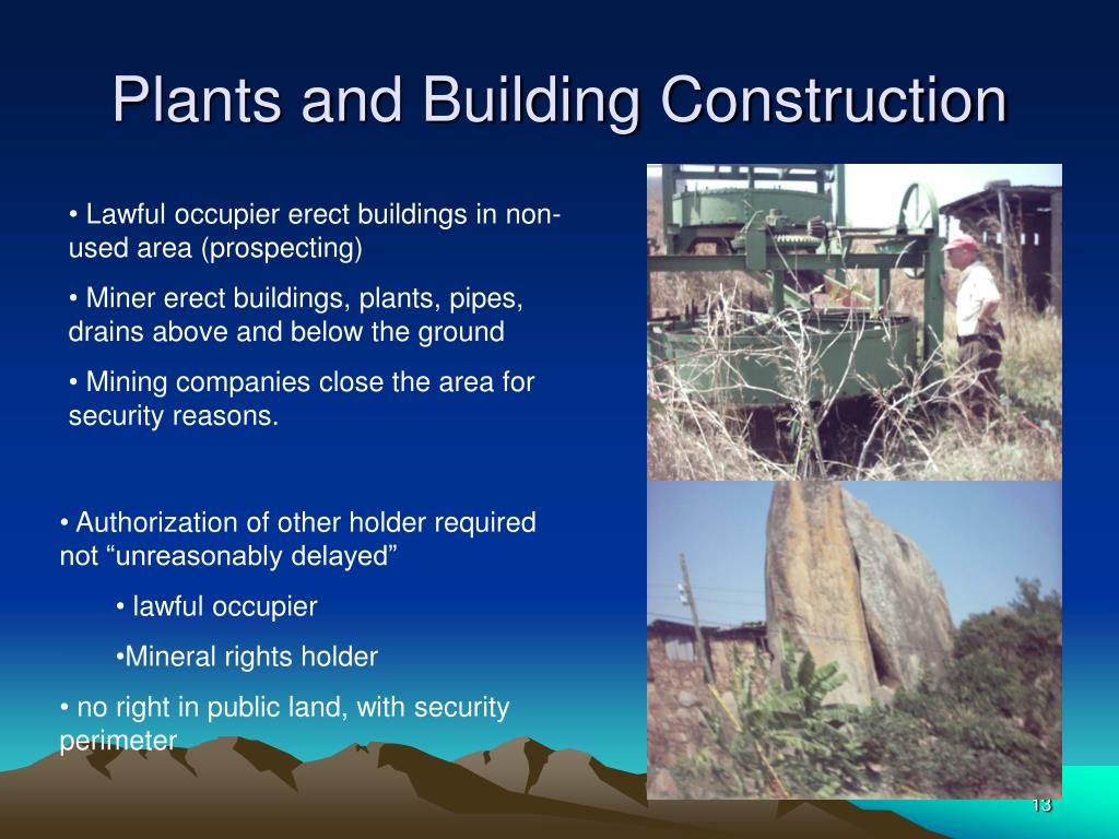 Plants and Building Construction