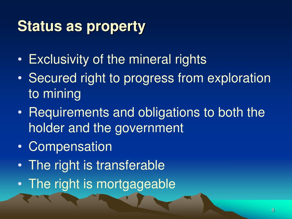 Status as property