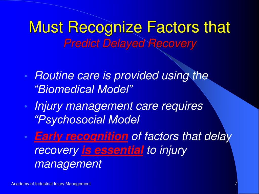 Must Recognize Factors that