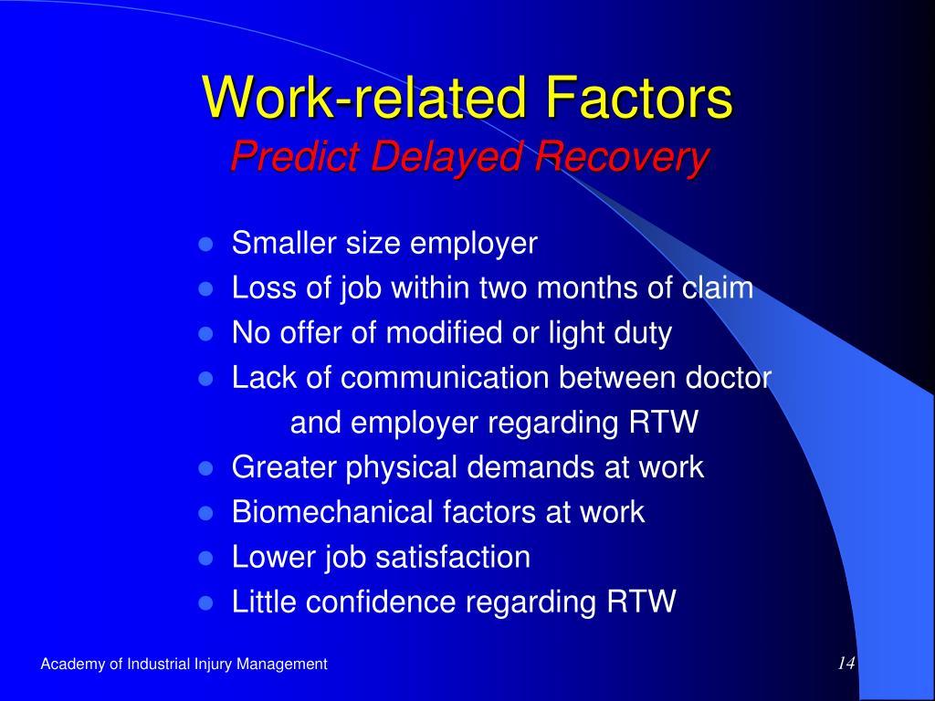 Work-related Factors