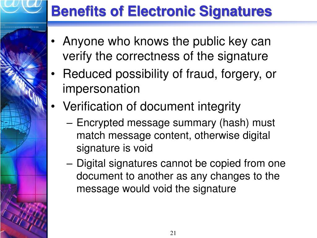 Benefits of Electronic Signatures