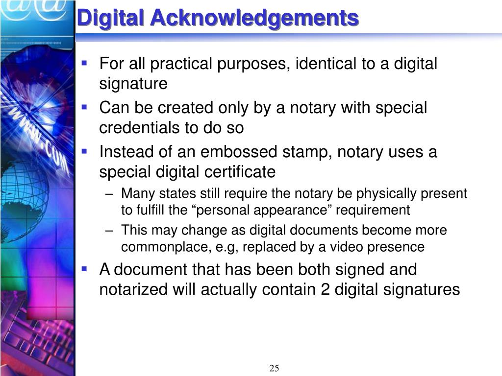 Digital Acknowledgements