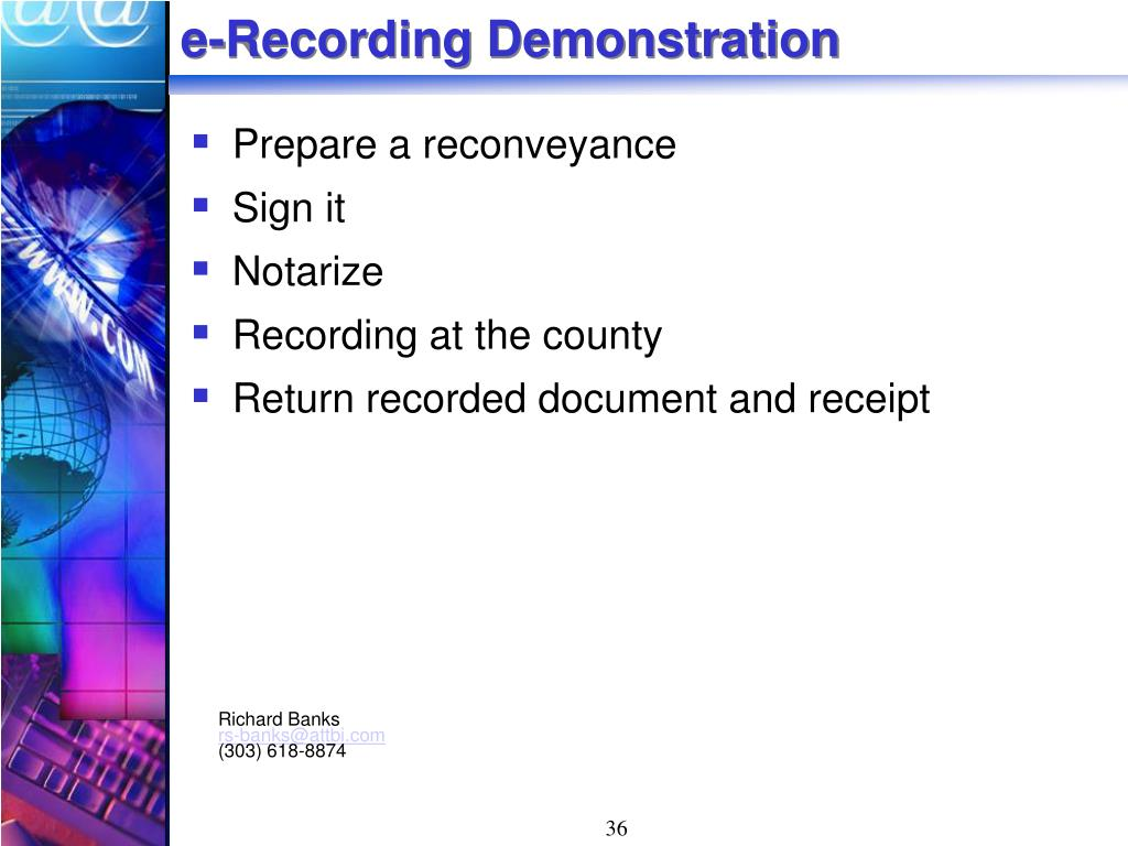 e-Recording Demonstration