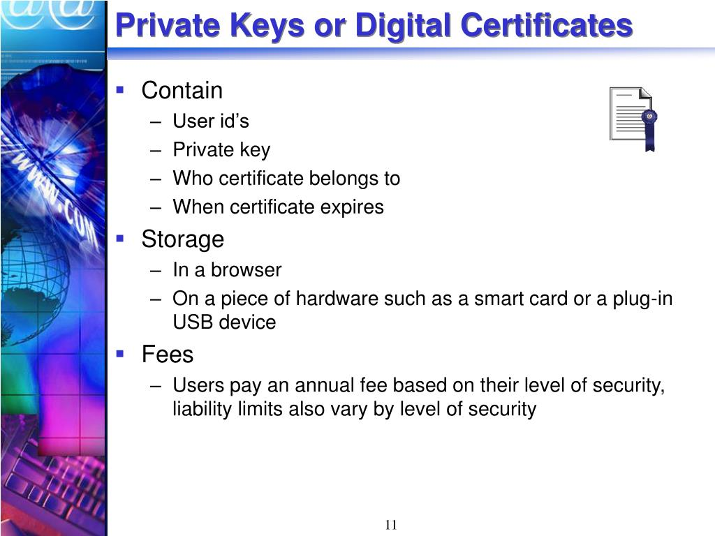 Private Keys or Digital Certificates