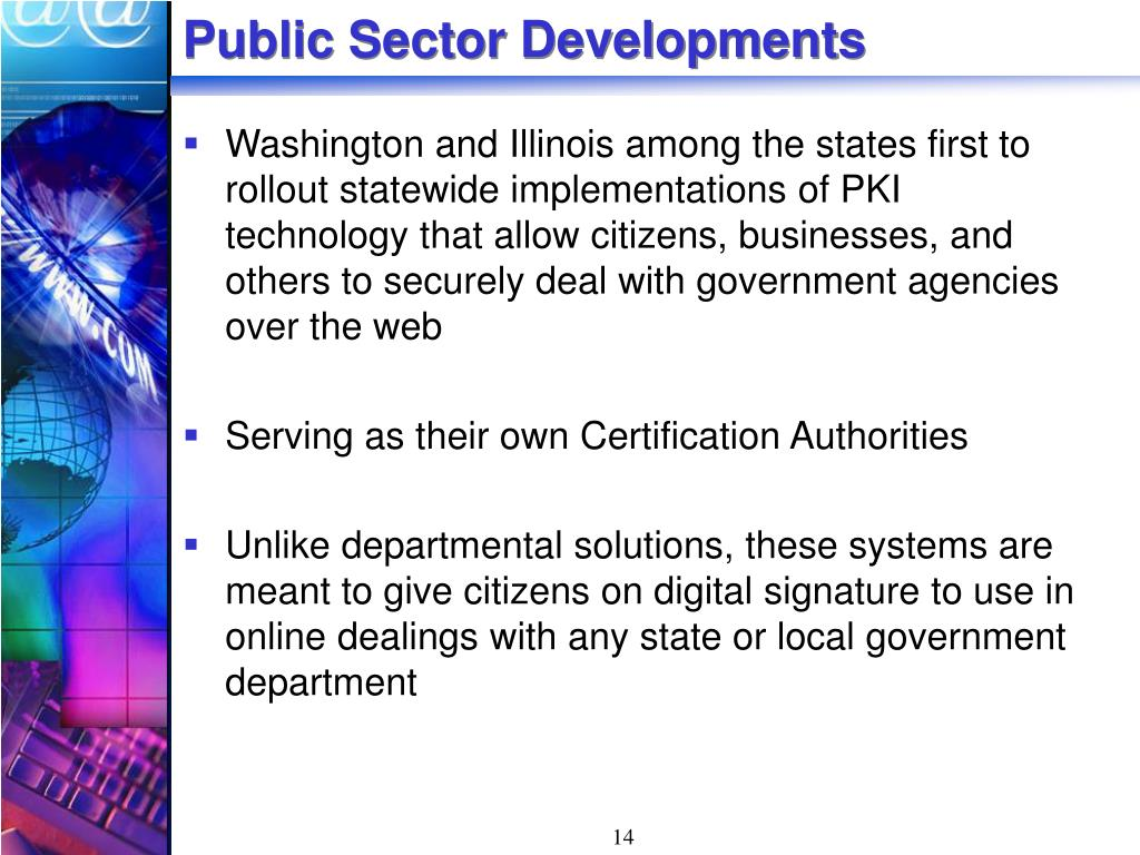 Public Sector Developments