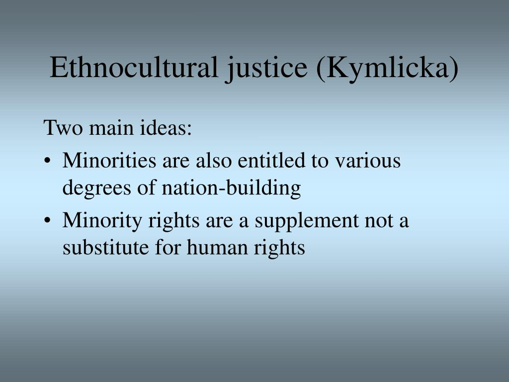 Ethnocultural justice (Kymlicka)