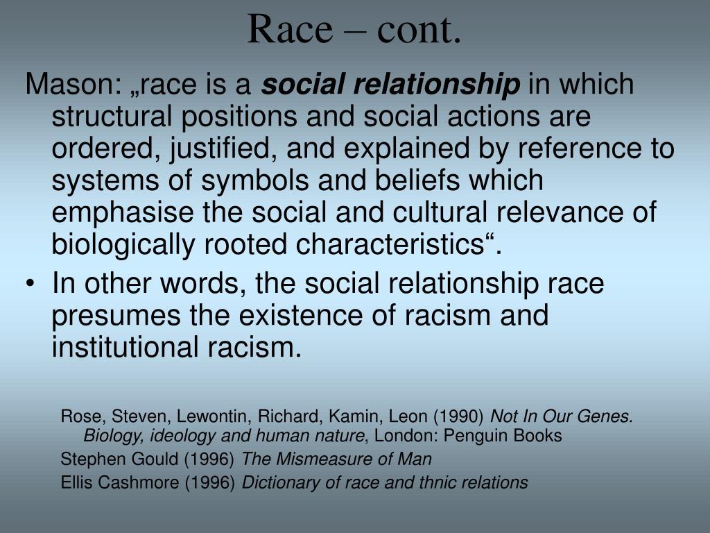 Race – cont.
