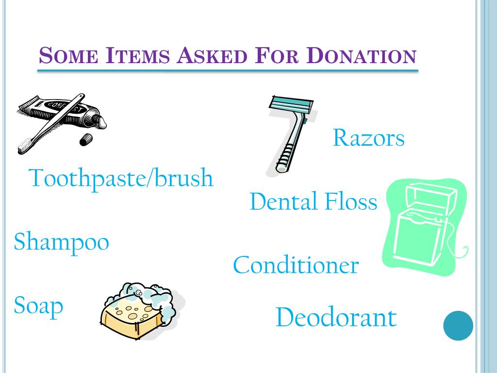 Some Items Asked For Donation