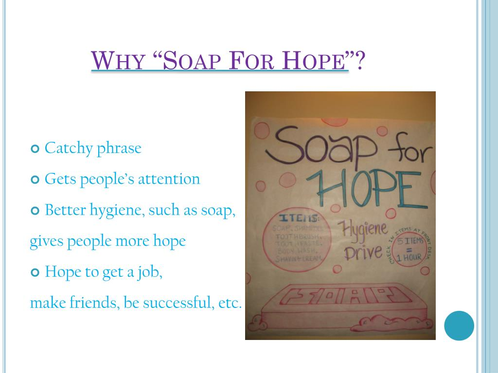 """Why """"Soap For Hope""""?"""