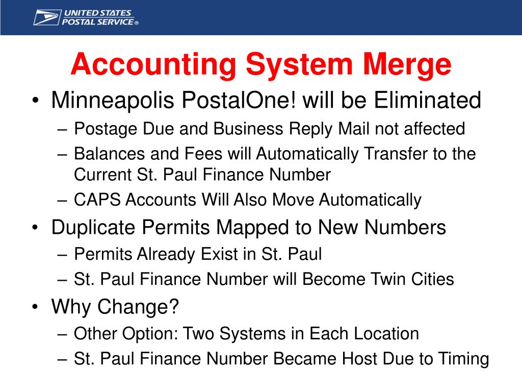 Accounting System Merge