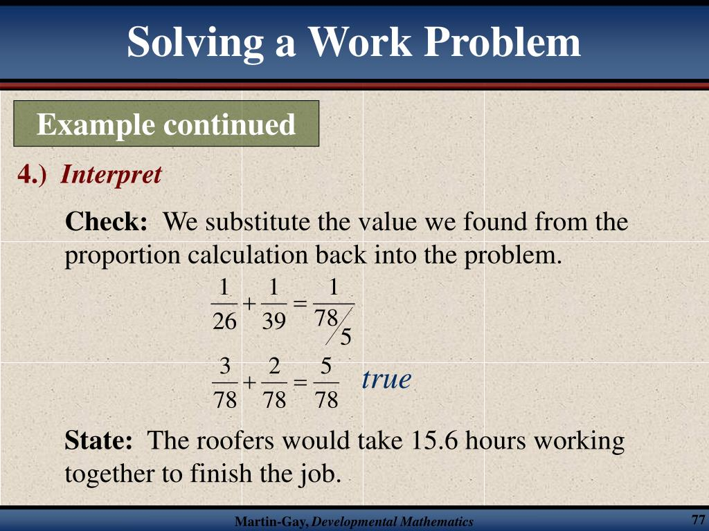 Solving a Work Problem