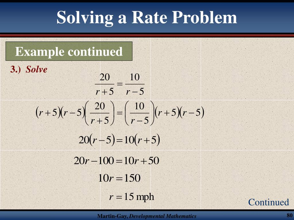 Solving a Rate Problem