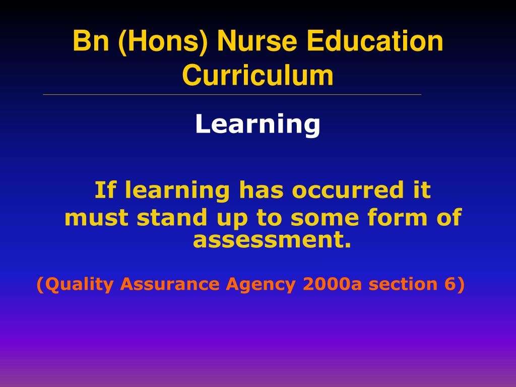 If learning has occurred it