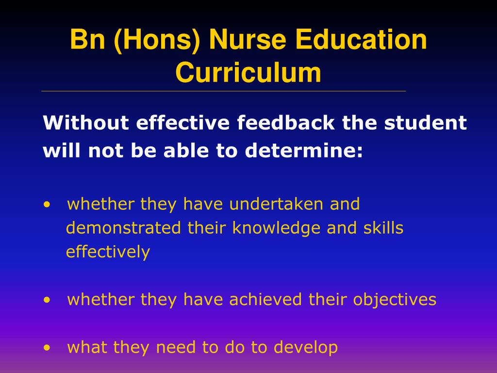 Without effective feedback the student