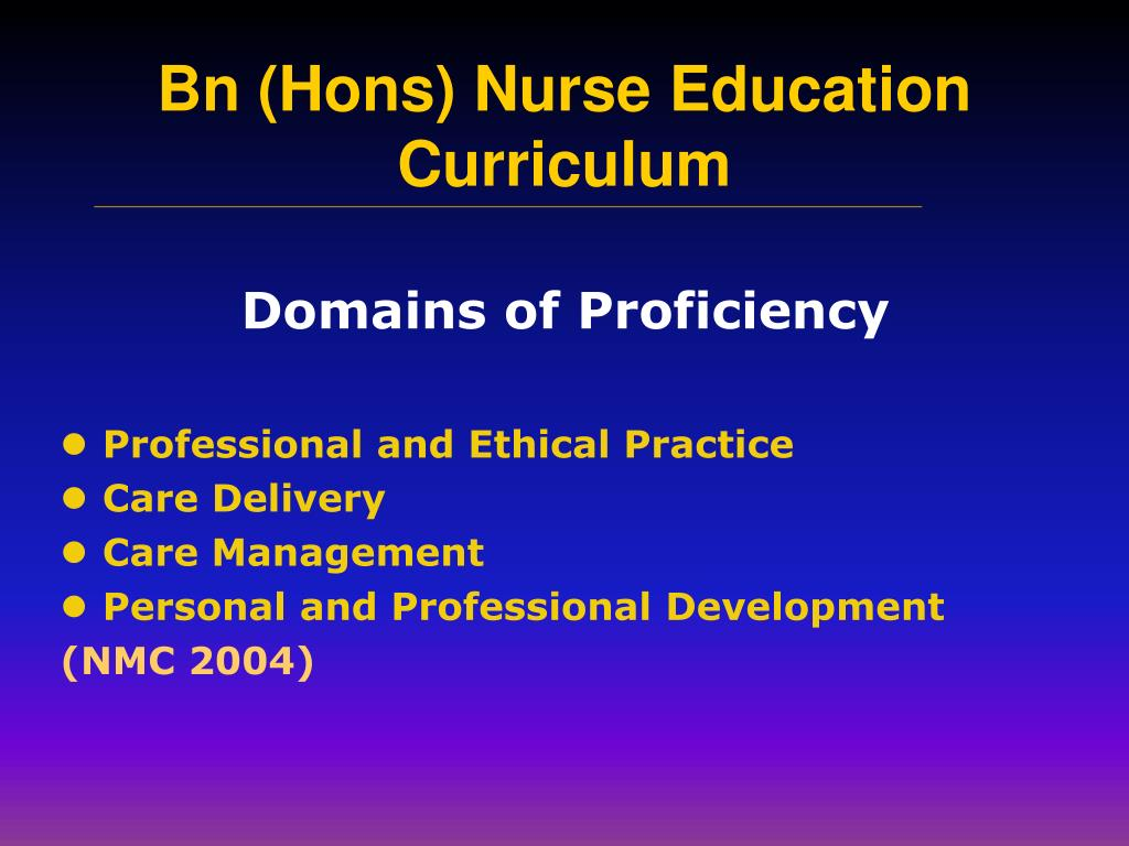 Domains of Proficiency