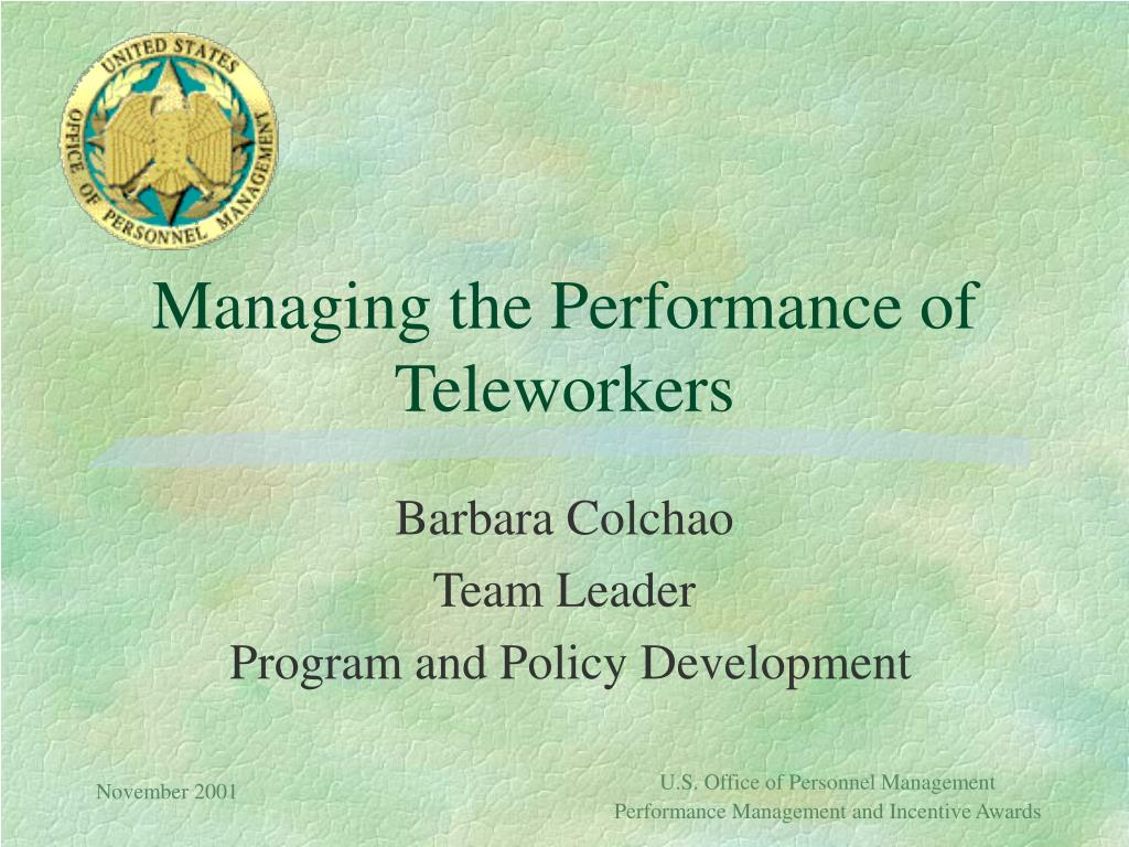 managing the performance of teleworkers