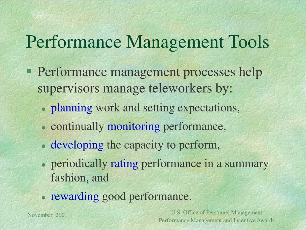 Performance Management Tools